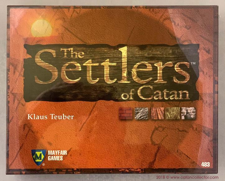 Primeira edição do jogo Catan de Klaus Teuber