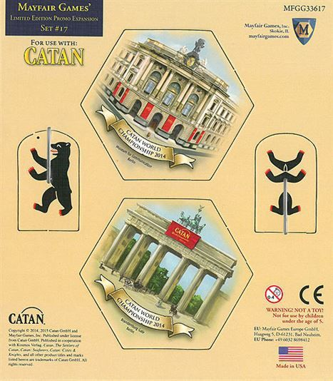Expansão menor CATAN - Catan World Championship Berlin 2014 Special