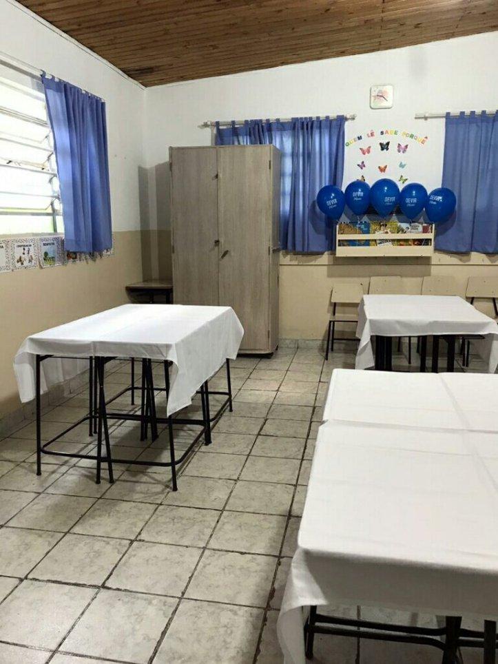 Sala de jogos de tabuleiro na escola Cristã Jardim das Oliveiras