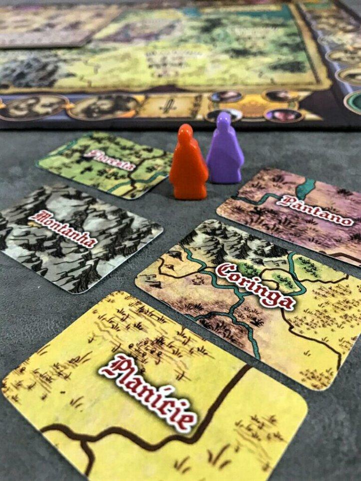 Cartas de terreno do jogo de tabuleiro Shazam