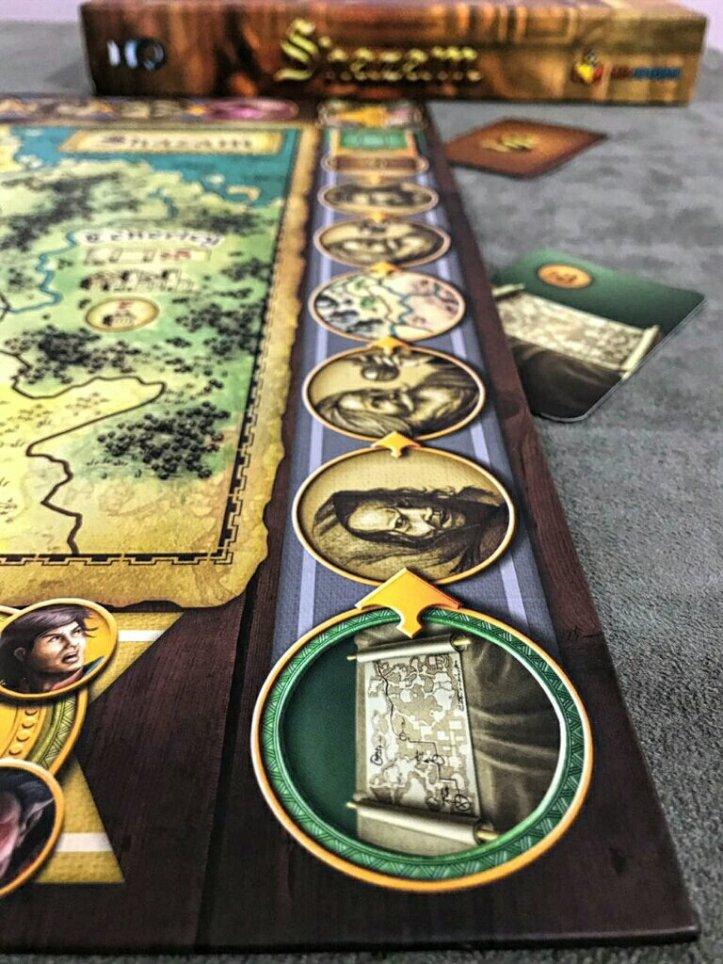 Trilha de bônus do jogo de tabuleiro Shazam