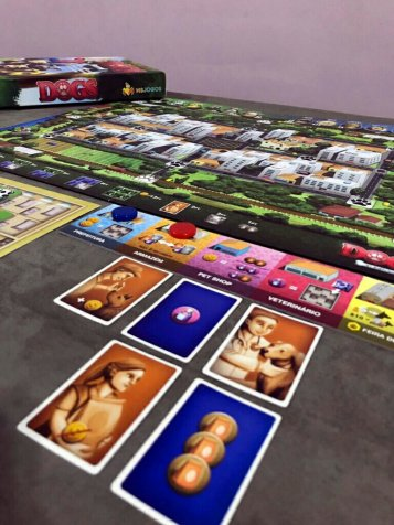 Cartas do jogo de tabuleiro Dogs