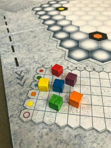 Trilha de pontuação do jogo de tabuleiro Genial