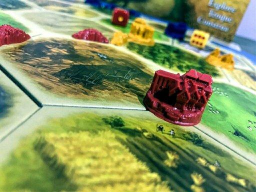 Cidades do jogo de tabuleiro CATAN
