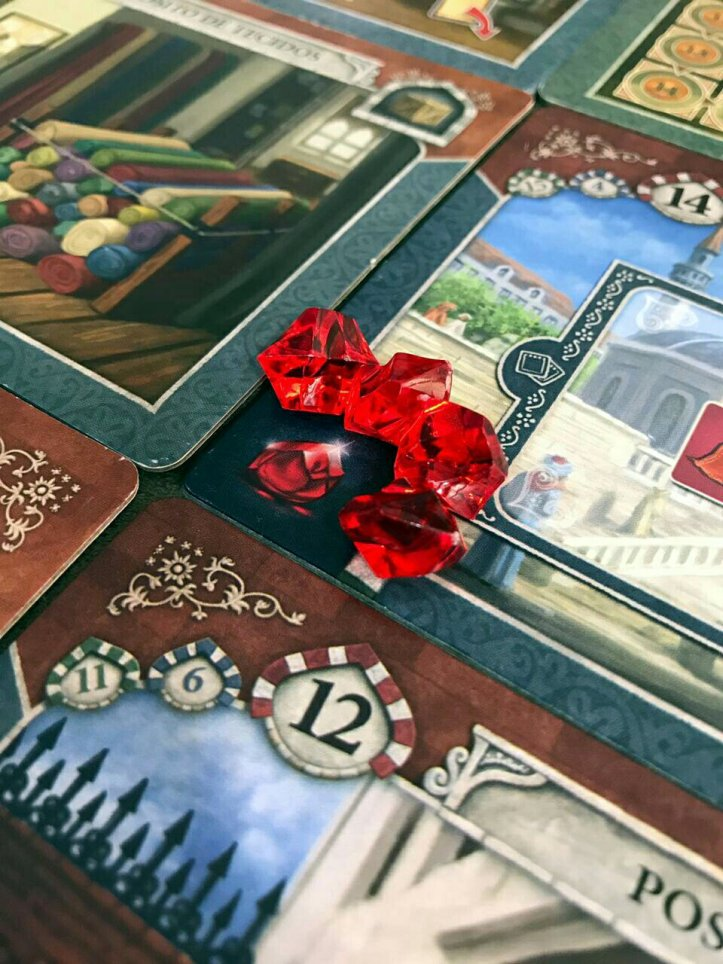 Lugares que dão rubis no jogo de tabuleiro Istanbul