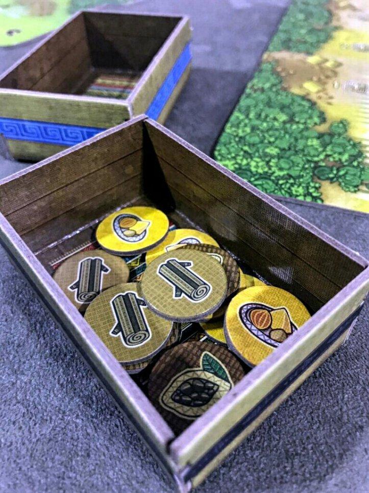 Seu caixote no jogo de tabuleiro Altiplano
