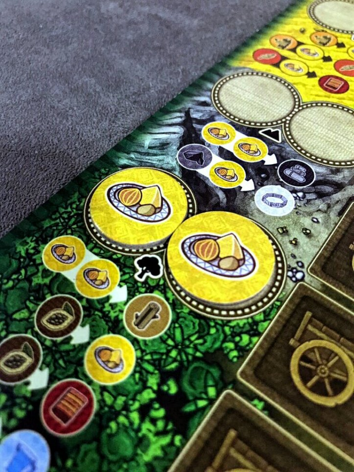 Espaço da floresta do jogo de tabuleiro Altiplano