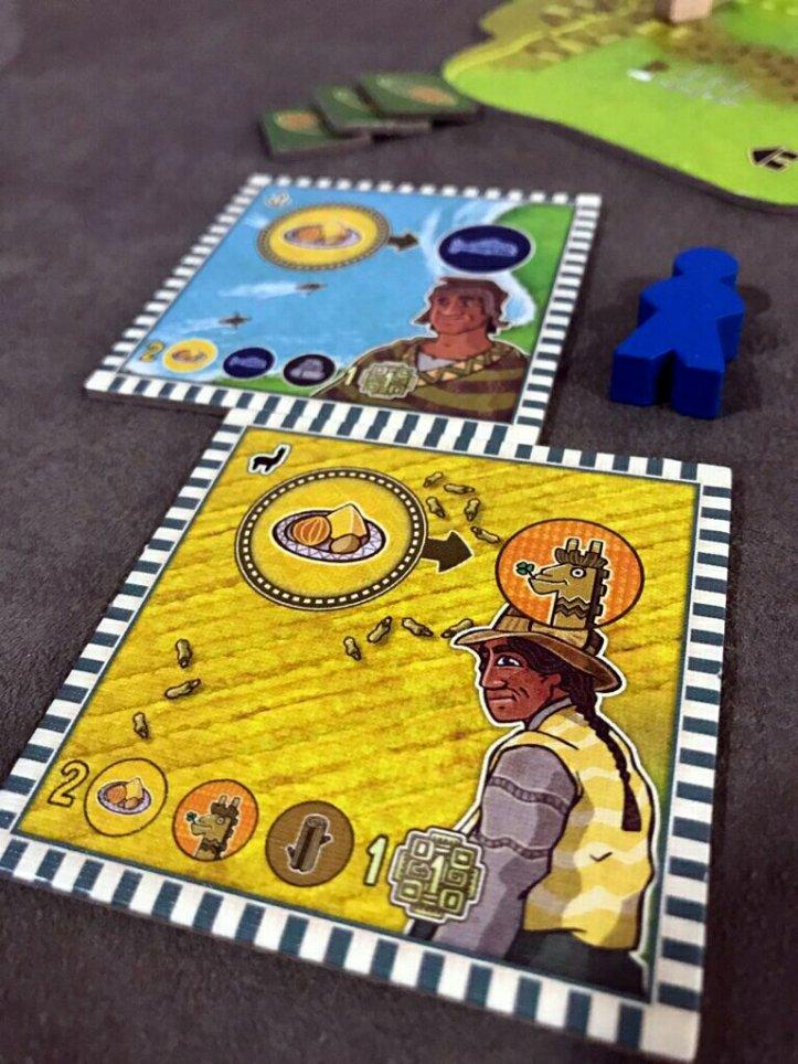 Personagens do jogo de tabuleiro Altiplano
