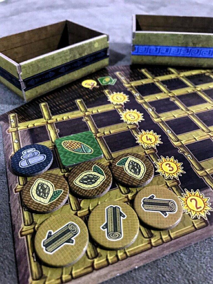 Depósito para armazenar mercadorias do jogo de tabuleiro Altiplano