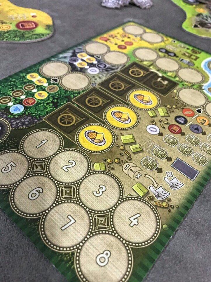 Tabuleiro de ações do jogo Altiplano