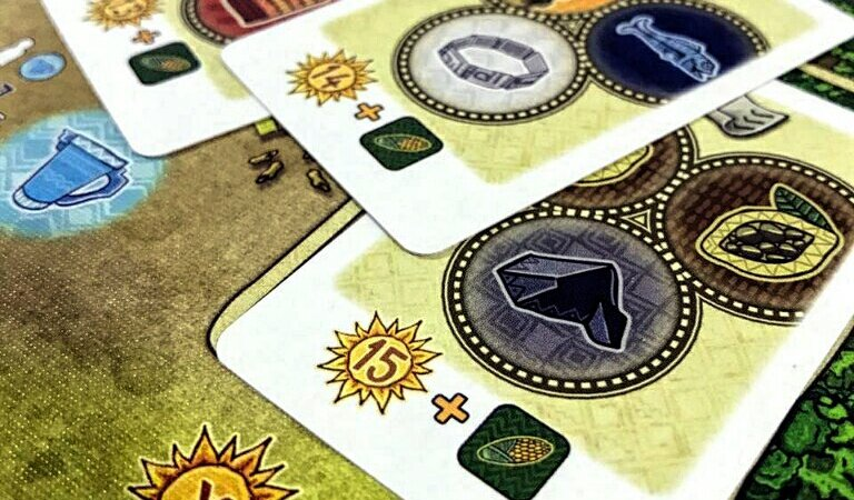 Contratos do jogo de tabuleiro Altiplano