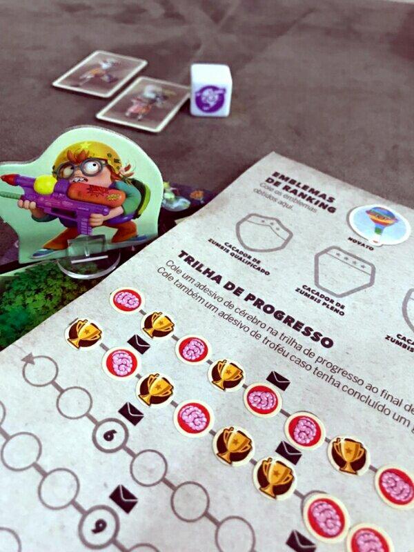 Trilha de progresso jogo infantil Zombie Kidz