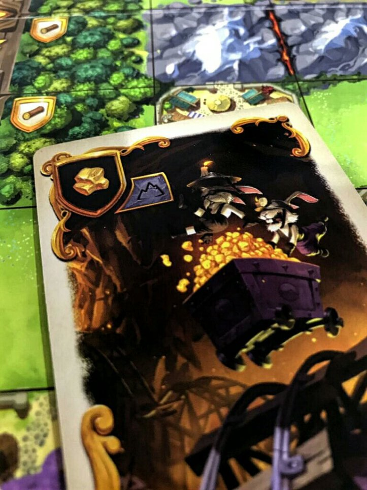 Os preciosos recursos nobres no jogo de tabuleiro Bunny Kingdom