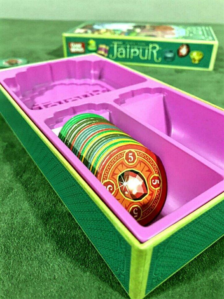 Fichas de bens do jogo de tabuleiro Jaipur