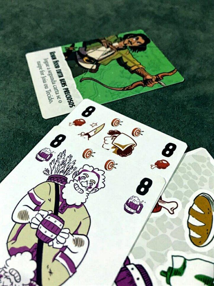 Cuidado com os alvos no jogo de cartas Maldito Sejas Robin Hood