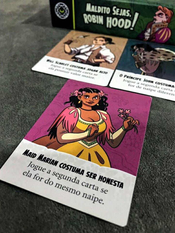 As lendas no jogo de cartas Maldito Sejas Robin Hood
