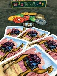 Os camelos do jogo de tabuleiro Jaipur