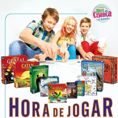 Divulgação evento jogos de tabuleiro Hebraica mês das crianças