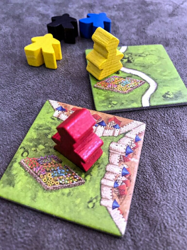 O Abade, uma mini expansão do jogo de tabuleiro Carcassonne