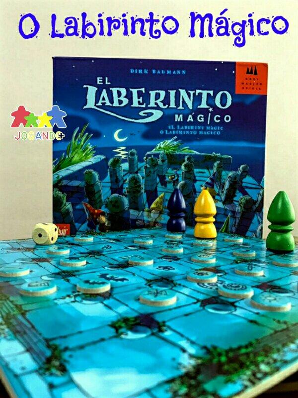 Jogo de tabuleiro infantil O Labirinto Mágico