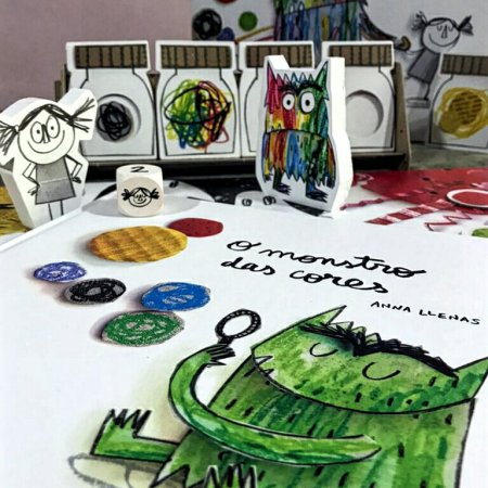 O livro e o jogo infantil O Monstro das Cores