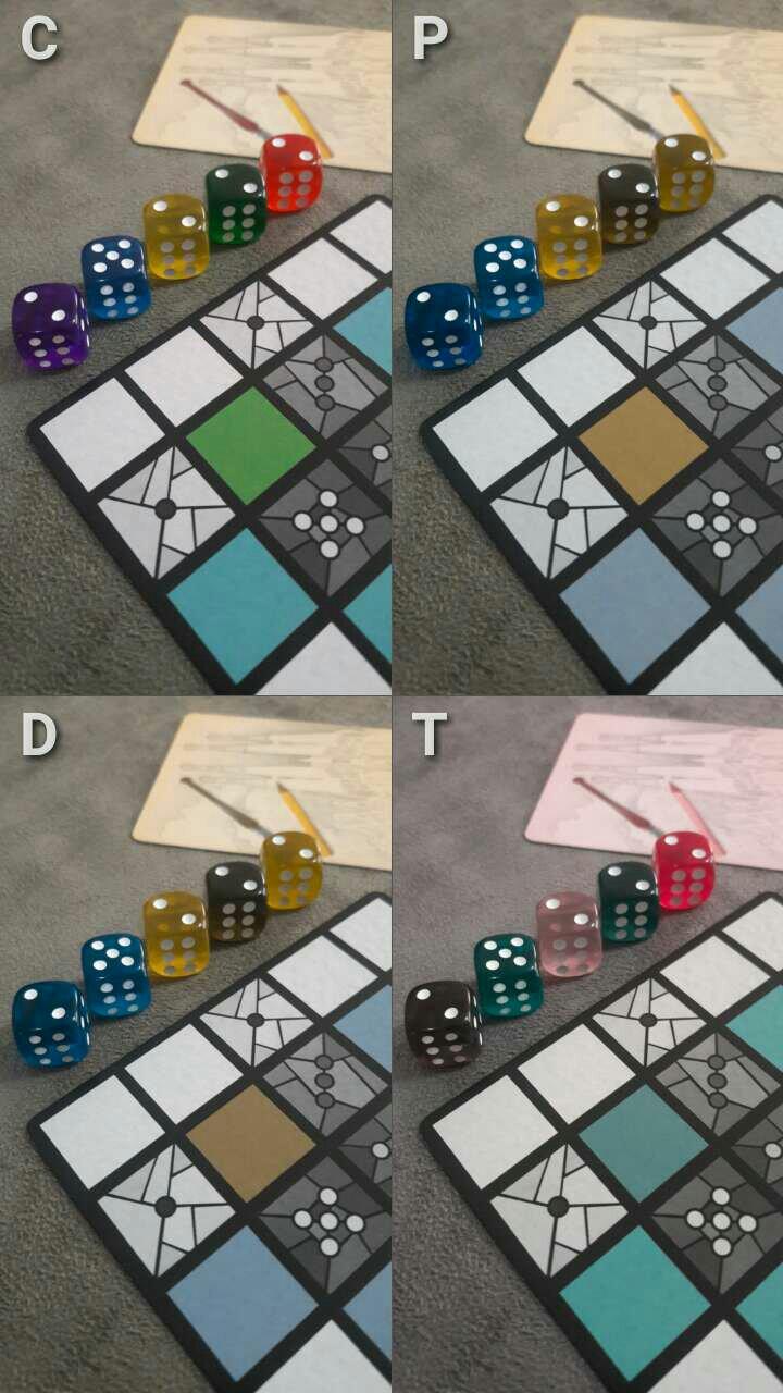 Acessibilidade jogo de tabuleiro Sagrada