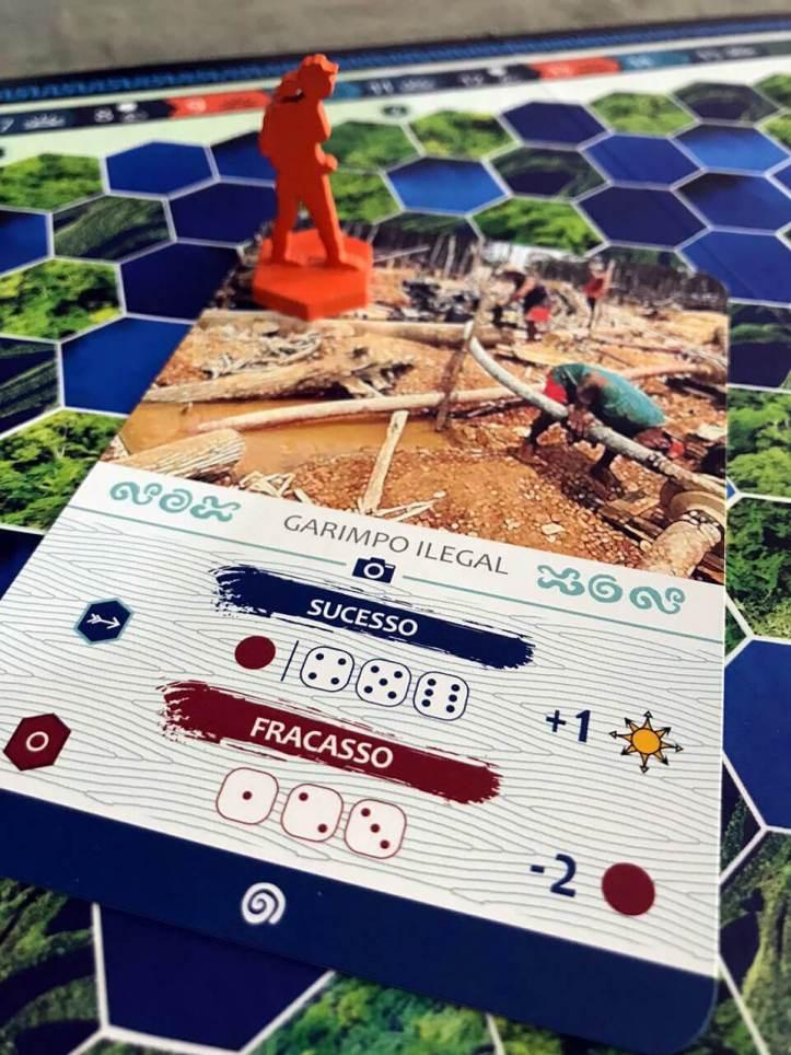 Jogo de tabuleiro Sobrevivência na Amazônia