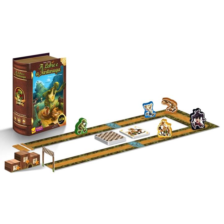 Jogo de tabuleiro A Lebre e a Tartaruga