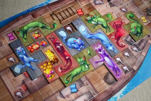Jogo de tabuleiro Ilha dos Gatos